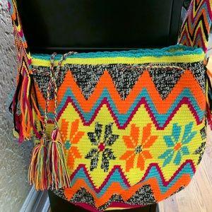 Colorful hand woven bag😍
